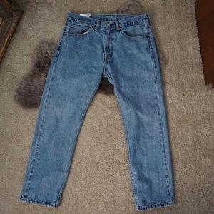Men's Levi's 505 W34 L30 Light-wash Denim Jeans
